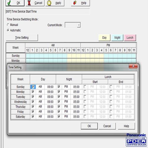 زمانبندی اتوماتیک سانترال 824